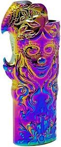 Rainbow Metal Lighter Case Cover Fits Standard Bic Lighter J6 In Rose & Beauty
