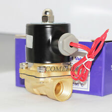 "AC 240V 1/2"" Electric Solenoid Valve Water Normally Closed Brass Coil N/C"