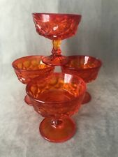 PV02442 Noritake PERSPECTIVE Tangerine Orange Sherbet / Champagne - Set of 4