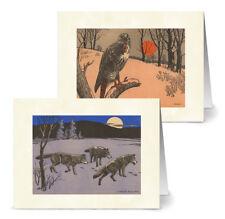 Vintage Wildlife - 36 Note Cards - 12 Designs - Off-White Ivory Envs