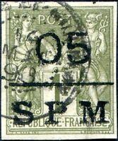 COLONIES SAINT-PIERRE-et-MIQUELON N° 11 Oblitéré