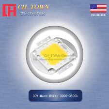 1pcs 30w Watt High Power Warm White 3000 3500k Smd Led Chip Blub Beads Cob Lamp