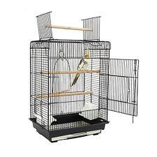 """Open Top """"FUN"""" Bird Cage Orlando Black Budgies Finch Canaries Cockatiels"""