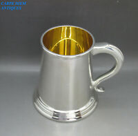 LUXURY ASPREY & Co BOXED SOLID STERLING SILVER PINT TANKARD 430g SHEFFIELD 1997
