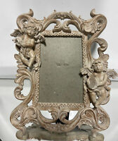 "VTG Aesthetic Cherub French Design Picture Frame Fits 4""x6"""