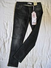 ALCOTT Damen Jeans Black Denim Stretch W28/L32 low waist slim fit tapered leg