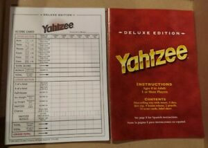 Yahtzee Deluxe Edition Score Pad 35 Pages & Instruc. Replacement Parts 1997 Game