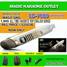 MAGIC SING KARAOKE MIC ED-7000 WITH FM MODULE 1,945 ENGLISH POP SONGS