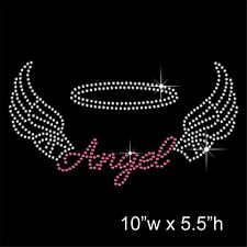 Angel with wings Rhinestone Diamante Transfer Hotfix applique Iron-on Motif