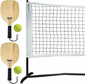 Franklin Sports Half Court Size Pickleball Game Set Paddles, Net & Balls Outdoor