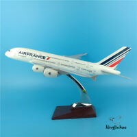 Air France Airlines Airbus A380 Aircraft Rresin Diecast Plane Model Toys 37CM