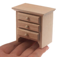 1/12 Dollhouse Miniature Wood Bedside Cabinet Model Furniture Accessories YK