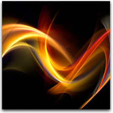 Wandbild ABSTRAKCJA CZARNA Abstract Kunst Art Bild Glasbild 0.4 x 30 x 30 cm