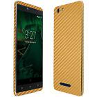 Skinomi Gold Carbon Fiber Skin & Screen Protector for BLU Vivo XL