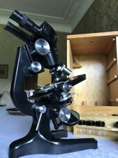 Vintage Watson Bactil High-Power Binocular Microscope - circa 1960, Cased
