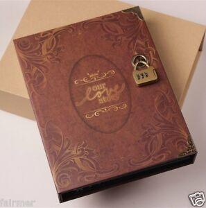 10X7 General Vintage Retro Paper Cover Ring Binder DIY Photo Album Book Holder