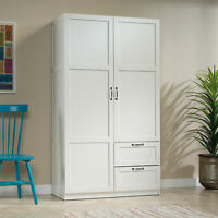 Wardrobe Armoire Closet Tall Cabinet Bedroom Clothes Storage Organizer Furniture