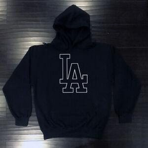 Los Angeles Dodgers Outline Hooded Sweat Shirt Hoodie Adult LA LAD Sweatshirt
