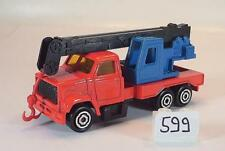 MAJORETTE 1/100 n. 283 Crane Truck GRU ROSSO/BLU/NERO #599