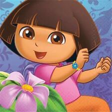 Dora Flower Adventure Beverage Dessert Cake Napkins 16 Ct Party Supplies New