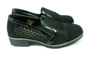 LADIES WOMENS COMFORT LIGHT WEIGHT BLACK SLIP ON SHOES NEW SIZE 3 - 8