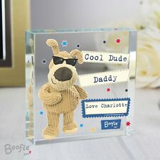Personalised Boofle Stars Large Crystal Token or Paperweight Ornament