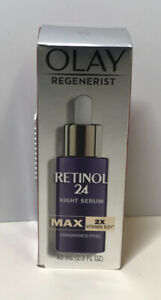 Olay Regenerist Retinol 24 Night Serum MAX Fragrance Free 1.3 oz 9400