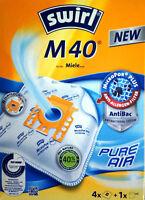 4 Staubsaugerbeutel Swirl M40 M 40 +1Filter MicroPor Pure Air