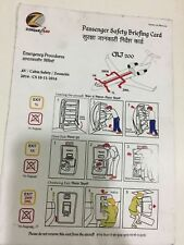 FLIGHT AIRLINE SAFETY CARD INDIA ZOOM AIR