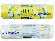 New 40 Pack FRAGRANCED PEDAL BIN LINERS 15L Waste Bags With Tie Handles Kitchen✔