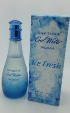Davidoff Cool Water Ice Fresh Woman Limited Edition 3.4oz EDT Perfume New Rare..