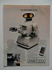 1985 Print Ad Tomy Omnibot 2000 Personal Robot ~ Tell Him Where to Go