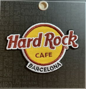 Hard Rock Cafe BARCELONA 2018 Classic HRC Logo PATCH on Card Iron/Sew On NEW!