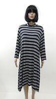 Cato Navy Blue White Striped Mock Turtleneck Rayon Knit Dress Plus SZ 22W/24W