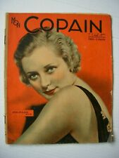 """""""Mon Copain"""" Womans Magazine (Belgium) March 1935- Evelyn Laye cover,  47 pg VG"""