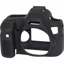 easyCover Silicone Skin Cover Protector Canon 6D II Mark 2 Black + Screen Protec