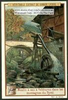 Watermill Moulin Sudtyrol Tyrol Germany Montagnes c1905 Trade Ad  Card