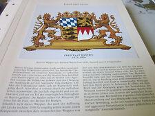 Archiv Bayerische Geschichte 7 Land 4041 Wappen Freistaat Bayern 1923-1936