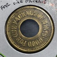 VINTAGE TOKEN GOOD FOR ONE PACKAGE OF MINTS
