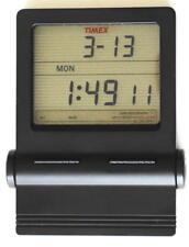 Very RARE Vintage Timex See-thru Travel Desk Alarm Clock Stopwatch #729 Black