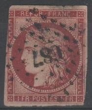 "FRANCE STAMP TIMBRE YVERT N° 6 b "" CERES 1F CARMIN FONCE "" OBLITERE A VOIR M925"