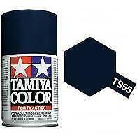 Bombe de peinture Tamiya Bleu Foncé Brillant Ts-55