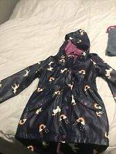 Girls Unicorn Rain Coat. Cat and Jack. Size L. Wind and rain resistant.