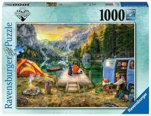 Ravensburger Puzzle 1000pc Wanderlust Calm Campsite 6177-5