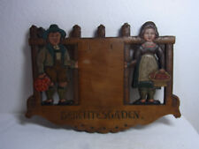 Vintage German Black Forest Carved Wood Wall Ornament  #A