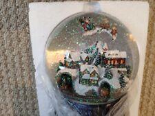 "Roman Glitterdomes 8"" 150mm Musical with Santa in Sleigh"
