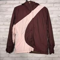 ROXY Snow Womens Ski Jacket Maroon Pink Color Block Zip Up Pocket Hooded XS