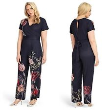 Studio 8 by Phase 8 Sz 12 Olivia JUMPSUIT Floral Wide Leg Occasion Wedding £130