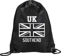 BACKPACK BAG SOUTHEND UK UNITED KINGDOM UNION JACK GYM HANDBAG SPORT M1
