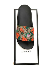 Gucci Strawberry Supreme sandals flip flops new with box size 35 US 4.5